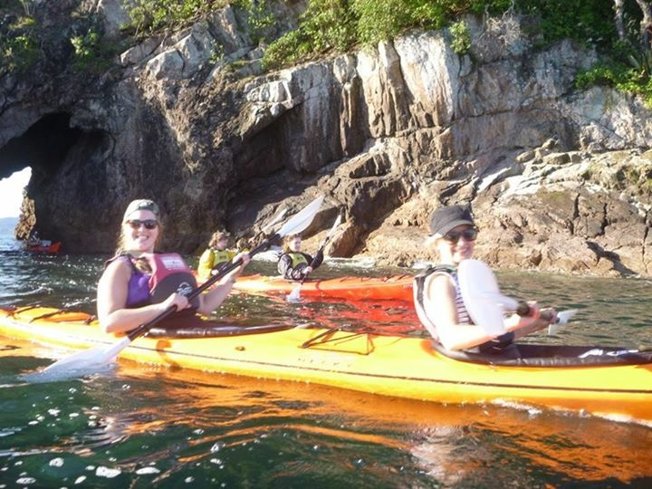 Kayaking at Cathedral Cove