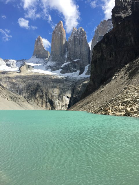 Camping in Torres del Paine National Park, Chile